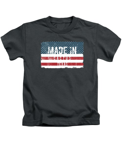 Made In Cactus, Texas Kids T-Shirt