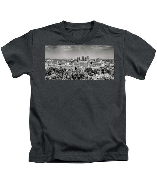Magic City Skyline Bw Kids T-Shirt