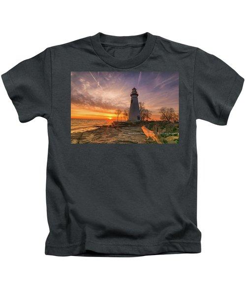 Marblehead Lighthouse Sunrise  Kids T-Shirt