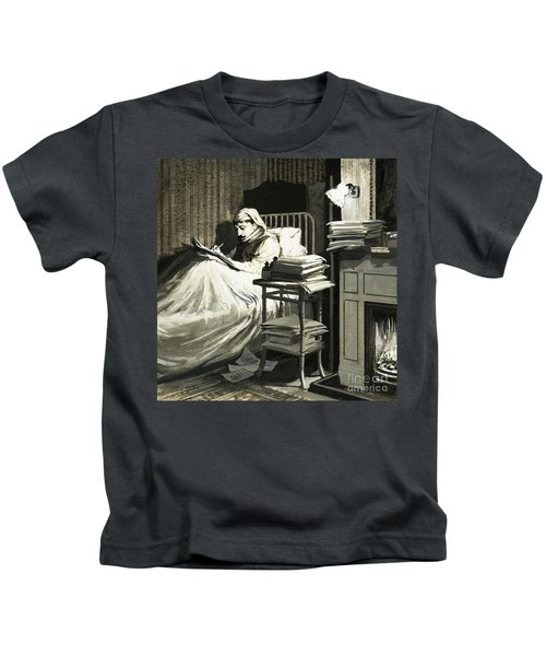 Marcel Proust Sat In Bed Writing Remembrance Of Things Past Kids T-Shirt