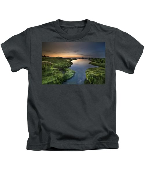 Marine Sunset Kids T-Shirt