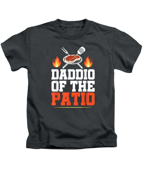 Mens Daddio Of The Patio Funny Grill Shirt Bbq Grilling Gifts Men Kids T-Shirt