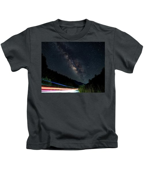 Milky Way Over The South Road Kids T-Shirt