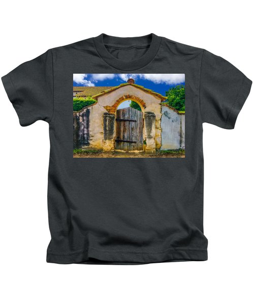 Mission San Miguel Arcangel Courtyard Entrance Kids T-Shirt