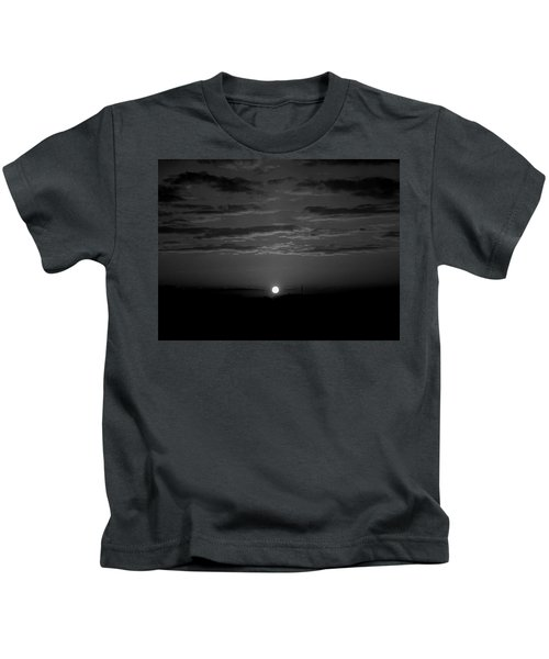 Monochrome Sunrise Kids T-Shirt