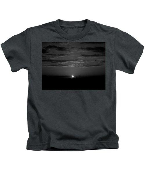 Monochrome Sunrise Kids T-Shirt
