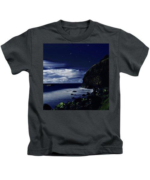 Moonlight At Argyle Kids T-Shirt