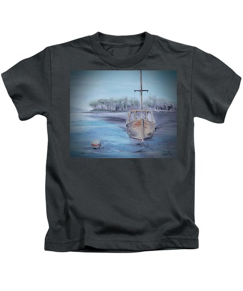 Moored Sailboat Kids T-Shirt