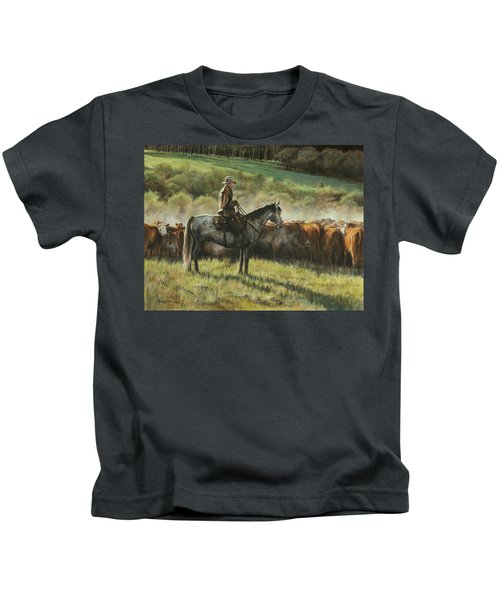 Morning In The Highwoods Kids T-Shirt