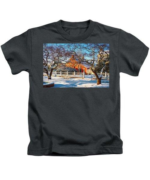 Morning Light, Winter Garden. Kids T-Shirt