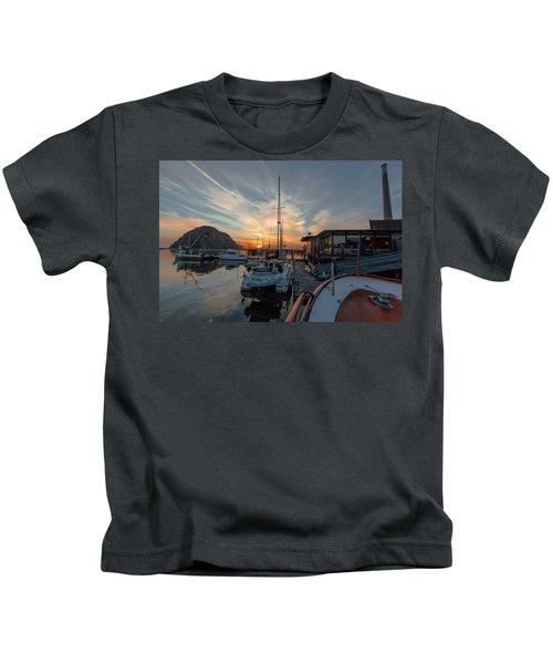 Morro Bay Sunset Kids T-Shirt