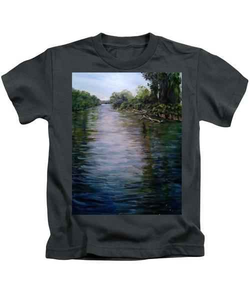 Mount Baker Peekaboo View From Lowell Riverfront Trail Kids T-Shirt