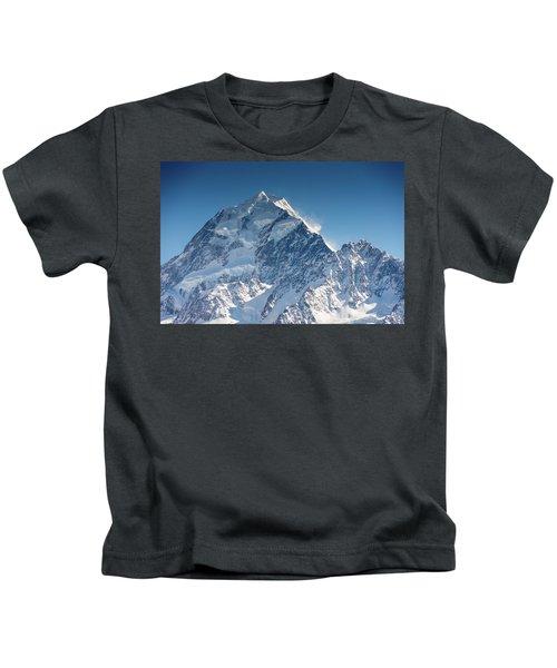 Mount Cook Aoraki Summit Ridge Kids T-Shirt