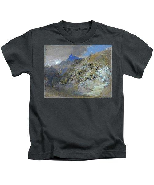 Mount Siabod From Tyn-y-coed Near Capel Curig - Digital Remastered Edition Kids T-Shirt