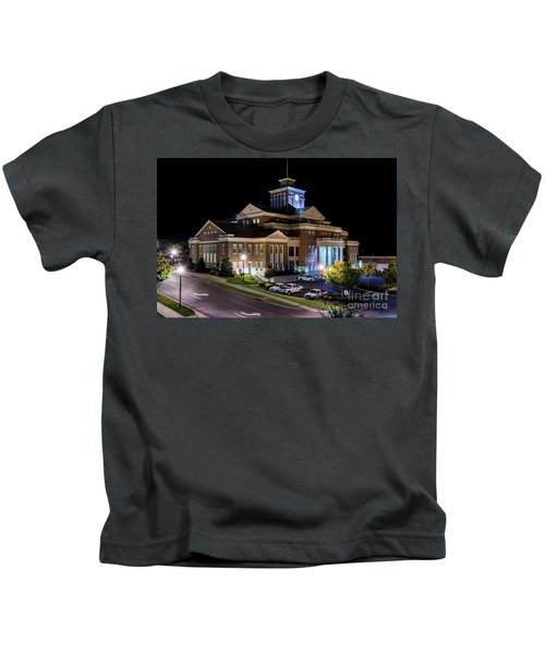 Municipal Center At Night - North Augusta Sc Kids T-Shirt