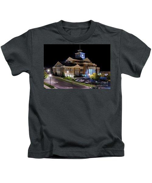 Municipal Center At Night - North Augusta Sc Kids T-Shirt
