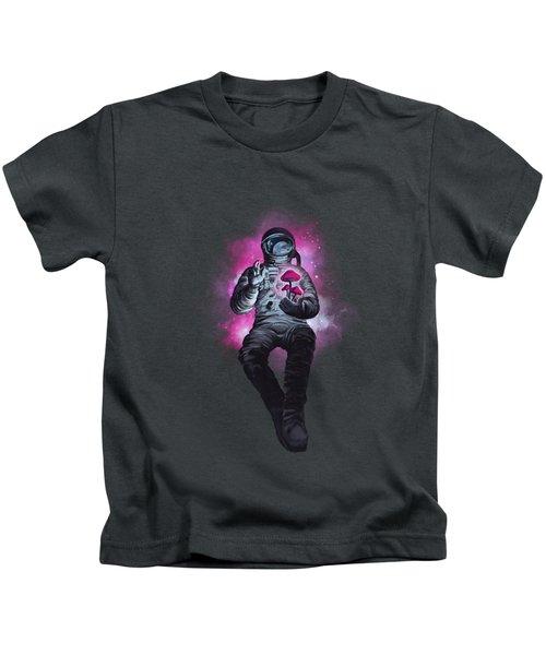 Mushroom Cosmonaut Space Traveller Kids T-Shirt