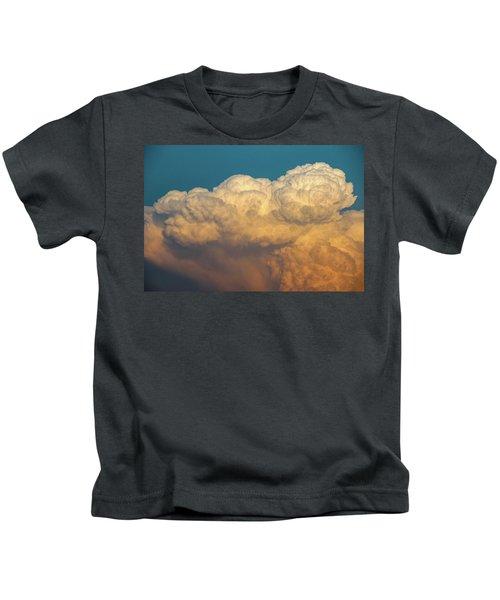 Nebraska Sunset Thunderheads 053 Kids T-Shirt