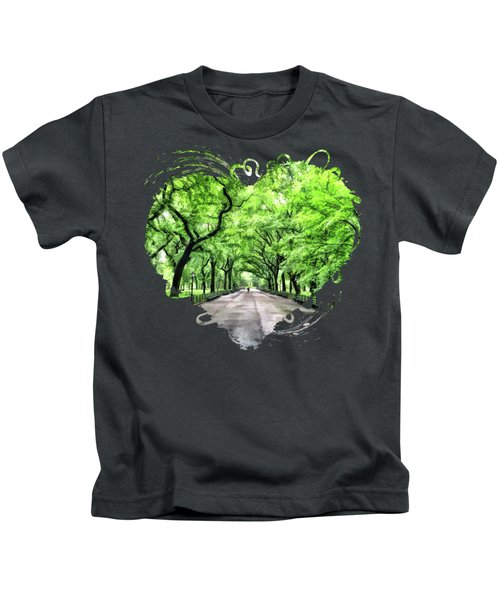 New York City Central Park Mall Kids T-Shirt