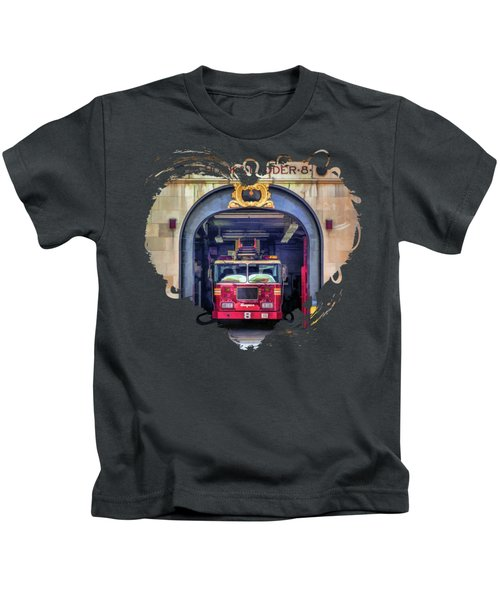 New York City Firehouse Company 8 Kids T-Shirt