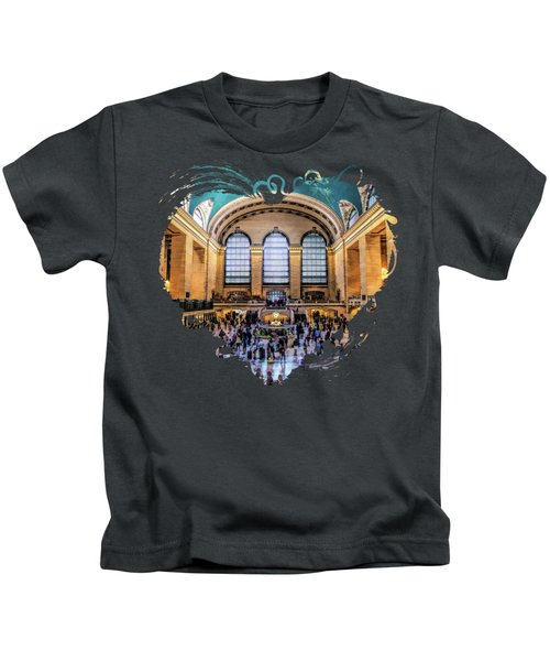New York City Grand Central Terminal Kids T-Shirt
