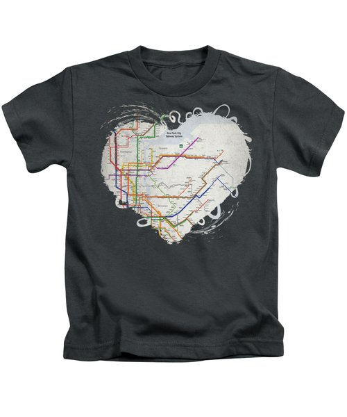 New York City Subway Map Kids T-Shirt