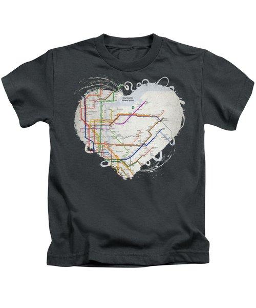 New York City Subway Map Kids T-Shirt
