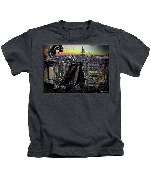 Night Of The Bat Man Kids T-Shirt