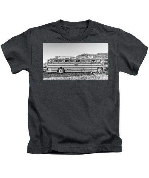 Old Abandoned Vintage Bus Jerome Arizona Kids T-Shirt