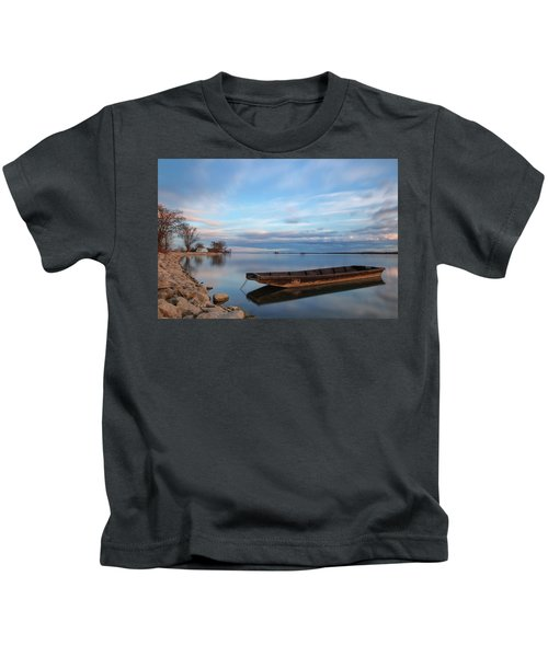 On The Shore Of The Lake Kids T-Shirt