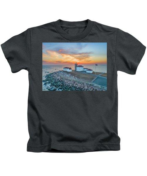 Orange Dreamsicle At Watch Hill Kids T-Shirt