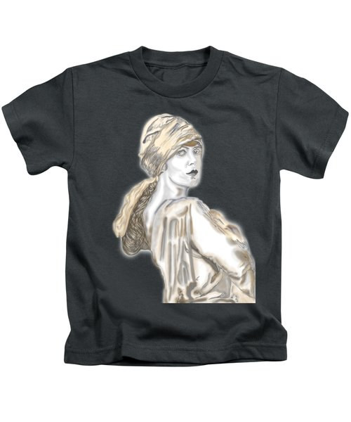 Painting Of A Lady Kids T-Shirt