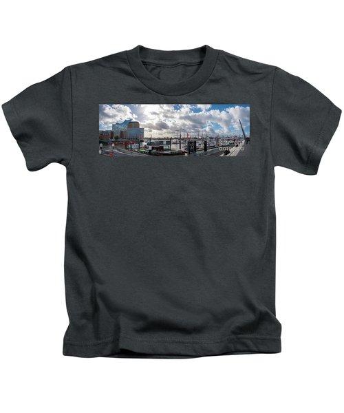 Panoramic View Of Hamburg Kids T-Shirt