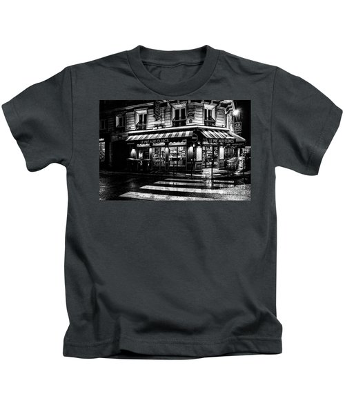 Paris At Night - Rue Bonaparte Kids T-Shirt