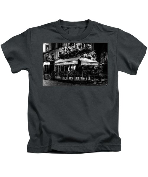 Paris At Night - Rue De Buci Kids T-Shirt