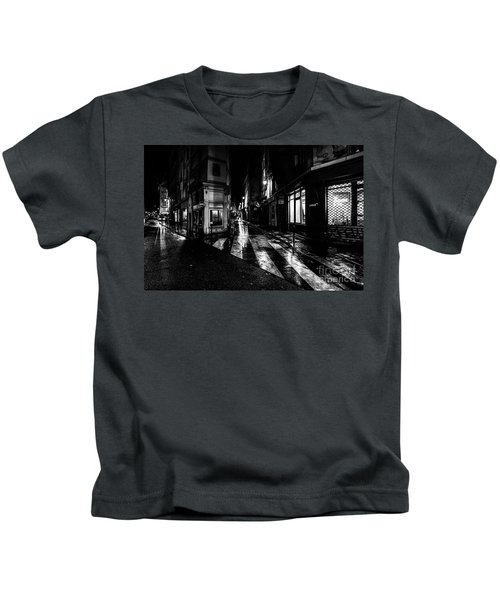 Paris At Night - Rue De Seine Kids T-Shirt