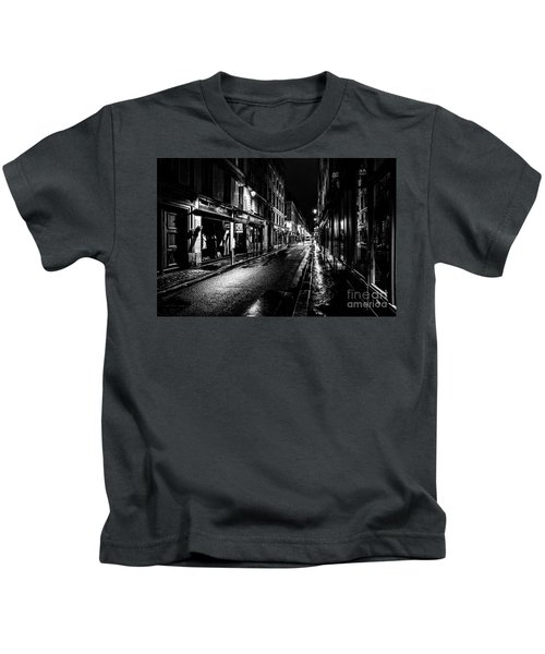 Paris At Night - Rue De Vernueuil Kids T-Shirt