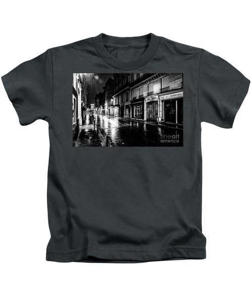 Paris At Night - Rue Saints Peres Kids T-Shirt
