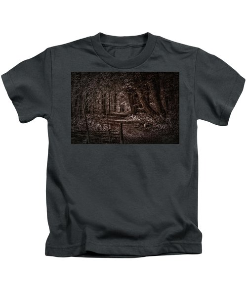 Path In Forest #i0 Kids T-Shirt