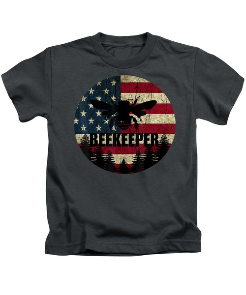 Patriotic Beekeeper Shirt American Flag 4th Of July Gift Bee T-shirt Kids T-Shirt