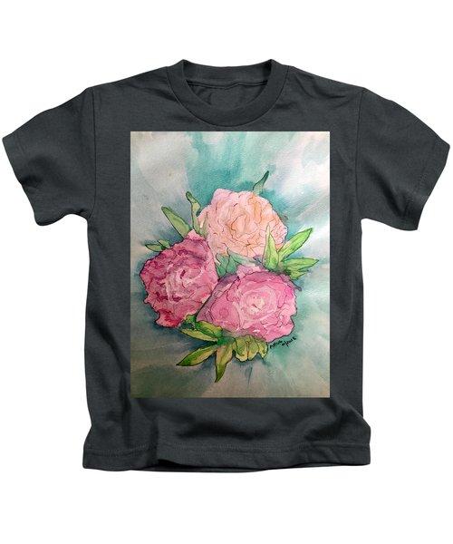 Peonie Roses Kids T-Shirt