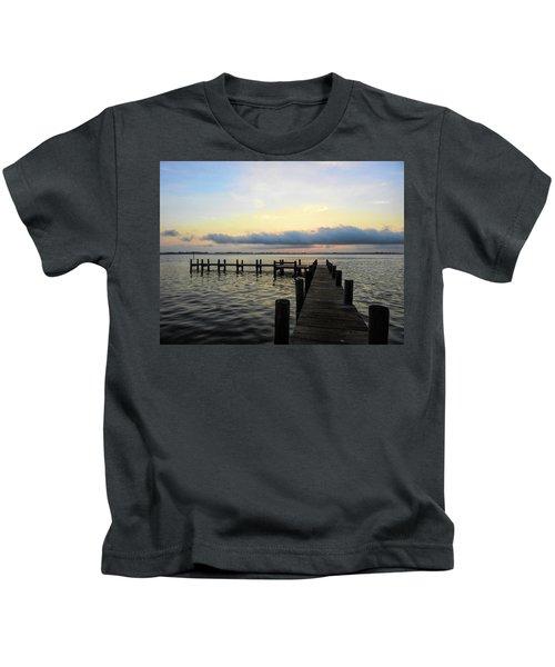 Pier Into Morning Kids T-Shirt