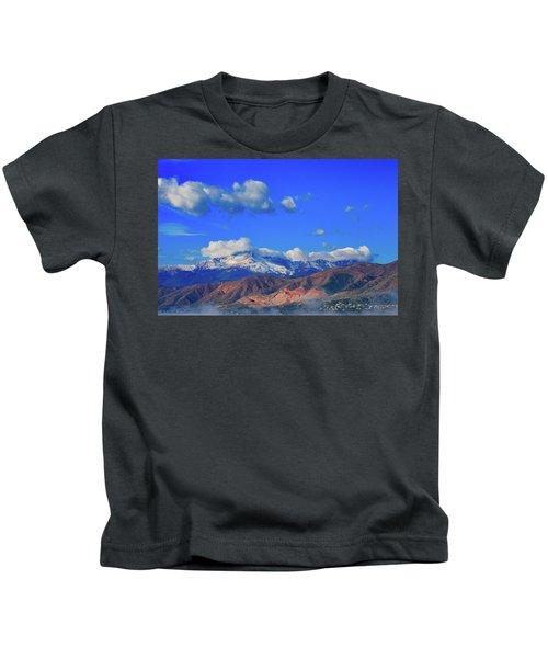 Pike's Peak Shines Above The Waldo Canyon Burn Scar 2 Kids T-Shirt