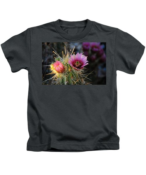 Pink Cactus Flower Kids T-Shirt