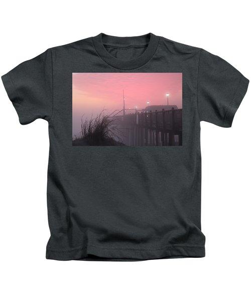 Pink Fog At Dawn Kids T-Shirt