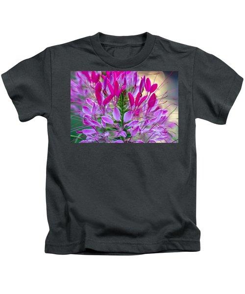 Pink Queen Flower Kids T-Shirt