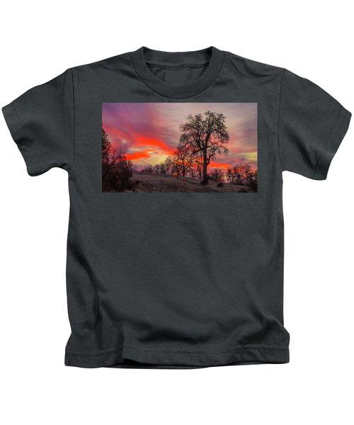 Pink Sunrise Kids T-Shirt