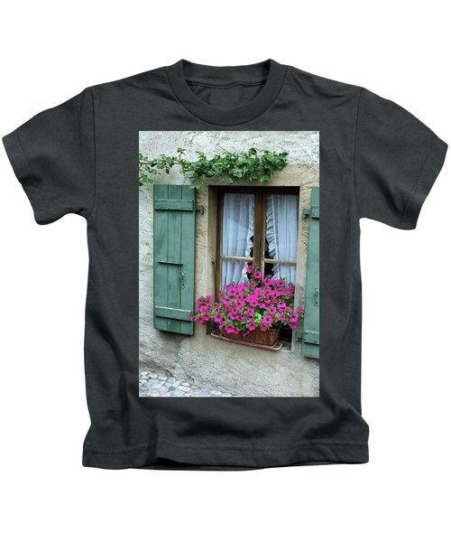 Pink Window Box Kids T-Shirt