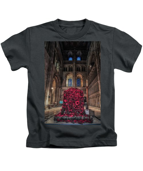 Poppy Display At Ely Cathedral Kids T-Shirt