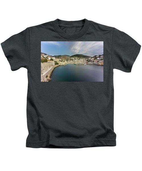 Port At Hydra Island Kids T-Shirt